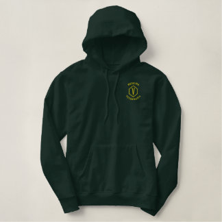 Moleton c university pointed hood embroidered hoodie