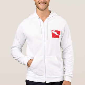 """Moleton with ziper Divers will be Sharks """"Species Hoodie"""