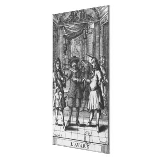Moliere as Harpagon, frontispiece illustration Canvas Print