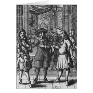 Moliere as Harpagon, frontispiece illustration Card