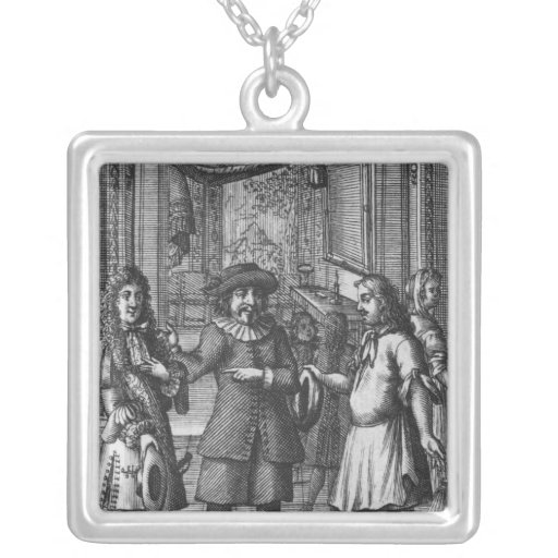 Moliere as Harpagon, frontispiece illustration Custom Jewelry
