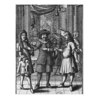 Moliere as Harpagon, frontispiece illustration Postcard