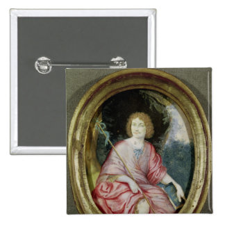 Moliere  as St. John the Baptist 2 Inch Square Button