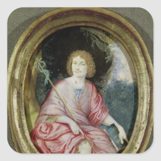Moliere  as St. John the Baptist Square Sticker