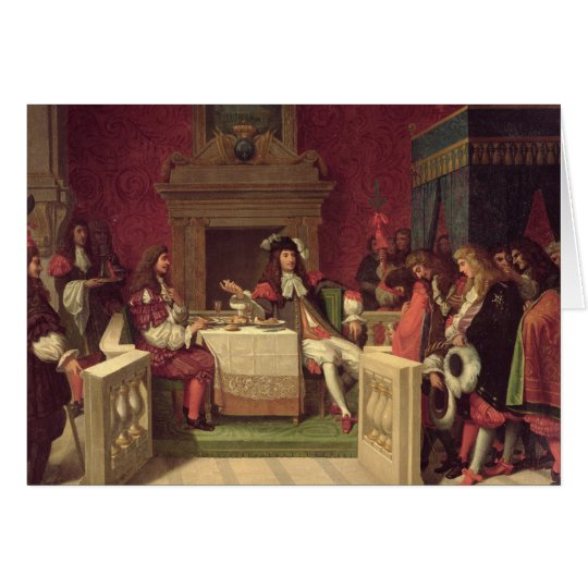 Moliere  Dining with Louis XIV  1857 Card