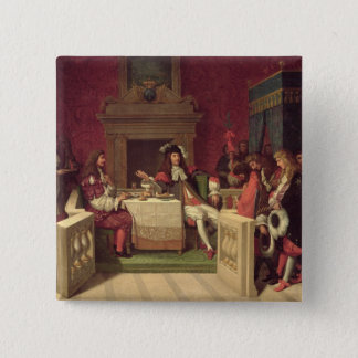 Moliere  Dining with Louis XIV  1857 Pinback Button