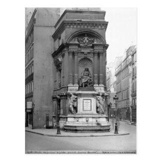 Moliere Fountain, 1844 Postcard