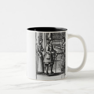 Moliere, frontispiece for 'The Miser' Two-Tone Coffee Mug