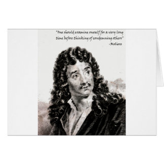 Moliere - One should consider oneself for a very l Card