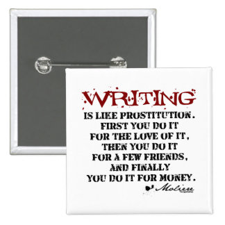 Moliere Writing Quote Pins