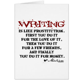 Moliere Writing Quote Card