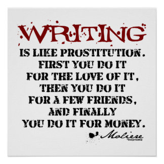 Moliere Writing Quote Print