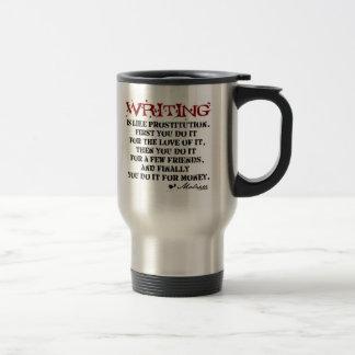 Moliere Writing Quote Travel Mug