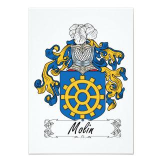 Molin Family Crest 5x7 Paper Invitation Card