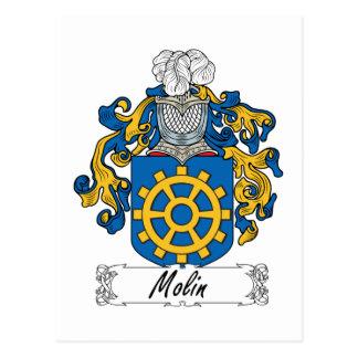 Molin Family Crest Postcard