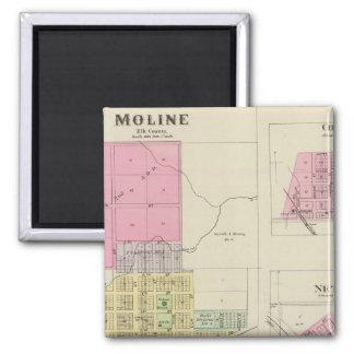 Moline, Circleville, Netawaka, Tippinville, Kansas Imán Cuadrado