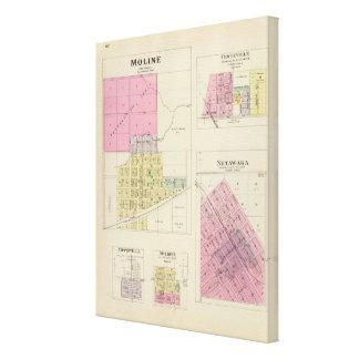 Moline, Circleville, Netawaka, Tippinville, Kansas Lienzo Envuelto Para Galerias