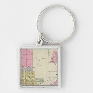Moline, Circleville, Netawaka, Tippinville, Kansas Llavero Cuadrado Plateado