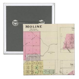 Moline, Circleville, Netawaka, Tippinville, Kansas Pin Cuadrada 5 Cm