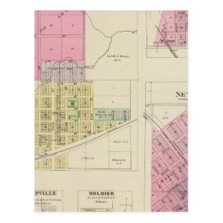 Moline, Circleville, Netawaka, Tippinville, Kansas Postcard