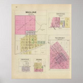 Moline, Circleville, Netawaka, Tippinville, Kansas Póster