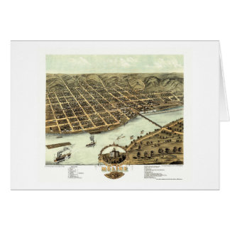 Moline, IL - Panoramic Map - 1869 Card