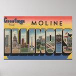 Moline, Illinois - escenas grandes de la letra Póster