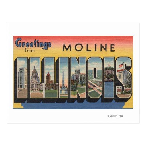 Moline, Illinois - escenas grandes de la letra Postal