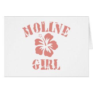 Moline Pink Girl Cards