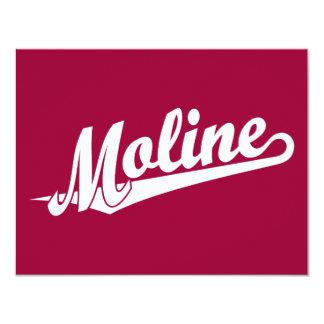 Moline script logo in white 4.25x5.5 paper invitation card