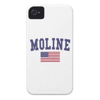 Moline US Flag iPhone 4 Case