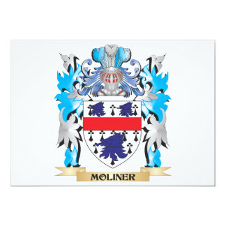 Moliner Coat of Arms - Family Crest 5x7 Paper Invitation Card