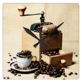 Molinillo de café Kaffeetasse Reloj Cuadrado