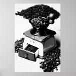 Molinillo de café negra Weis de representación de  Posters