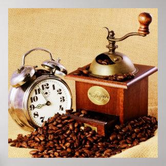 Molinillo de café reloj con Kaffeebohnen Impresiones