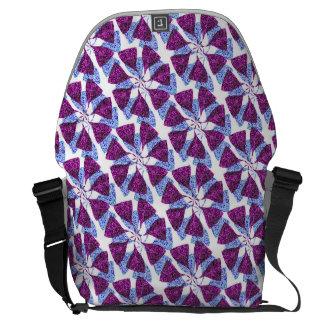Molinillo de viento azul y púrpura del modelo del bolsas de mensajería