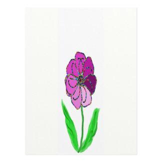molinillo de viento de la flor postales