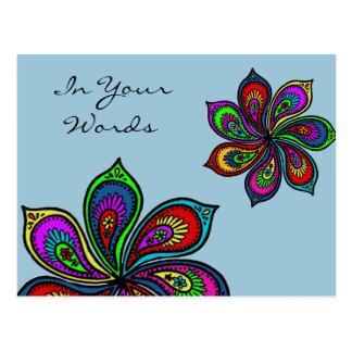 Molinillo de viento de Paisley de la postal de los