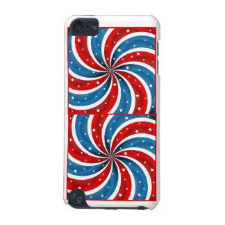Molinillo de viento doble patriótico carcasa para iPod touch 5