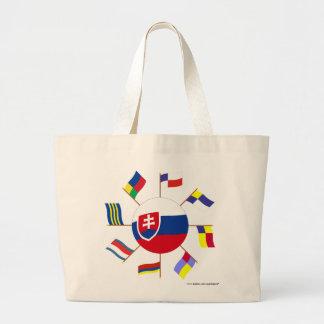 Molinillo de viento eslovaco de las banderas bolsa de mano
