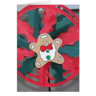 Molinillo de viento Poinsettia de Gingerbreadman Tarjetas