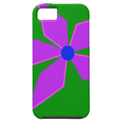 MOLINILLO DE VIENTO, verde y púrpura iPhone 5 Case-Mate Carcasas