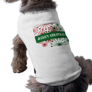Molinillos de viento de las Felices Navidad Playera Sin Mangas Para Perro