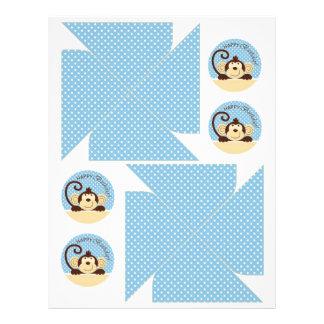 "Molinillos de viento del mono de la MOD Folleto 8.5"" X 11"""