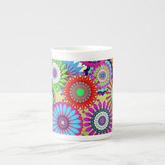 Molinillos de viento del mosaico taza de porcelana