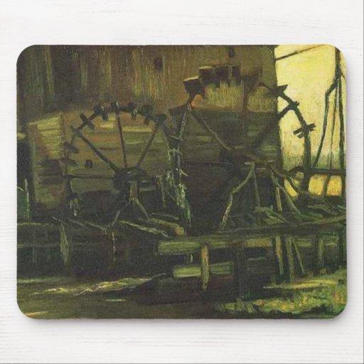 Molino de agua en Gennep, Vincent van Gogh Tapete De Raton