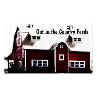 Molino de alimentación de la tienda rural o el mer plantillas de tarjeta de negocio