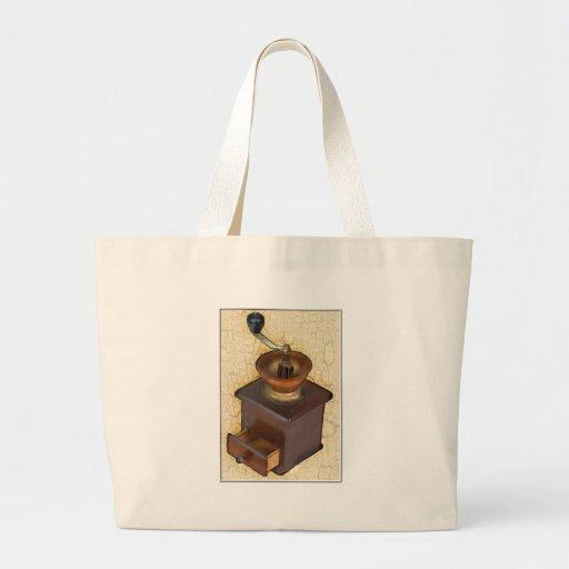 Molino de café antiguo bolsas de mano