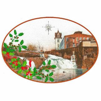 Molino de Camperdown y ornamento del navidad de la Adorno Fotoescultura