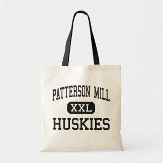 Molino de Patterson - perros esquimales - alto - B Bolsas Lienzo